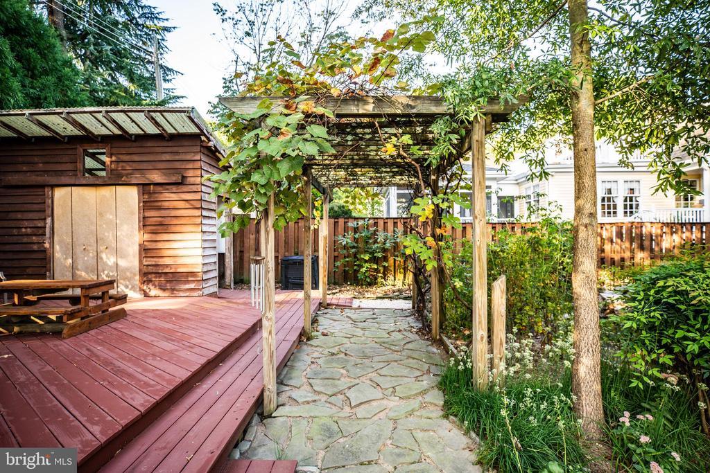 Garden area, deck and storage - 1106 LITTLEPAGE ST, FREDERICKSBURG
