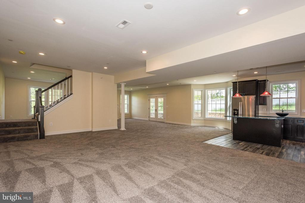 Lower Level Recreation Room and Kitchen - 15435 BARNESVILLE RD, BOYDS