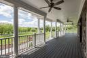 Covered Front Porch with Fans - 15435 BARNESVILLE RD, BOYDS
