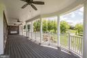Covered Front Porch facing SW -- Sunsets Galore! - 15435 BARNESVILLE RD, BOYDS