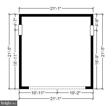 Dimensions/Measurements of garage - 4417 BRADLEY LN, CHEVY CHASE