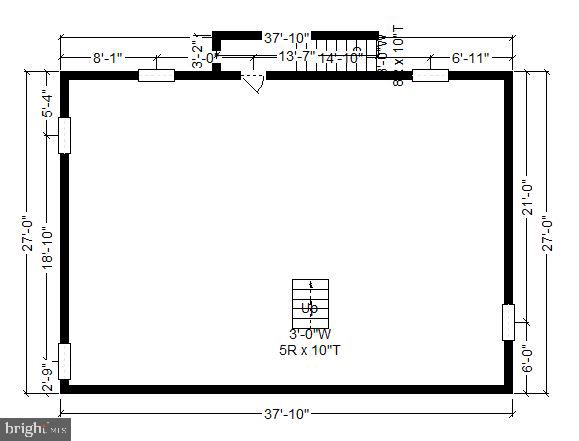 Dimensions/Measurements of Basement - 4417 BRADLEY LN, CHEVY CHASE