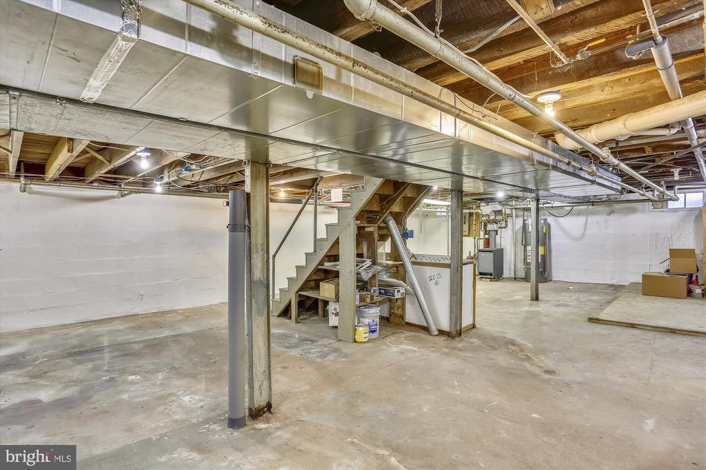 Unfinished Basement - 4417 BRADLEY LN, CHEVY CHASE