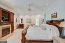 Main level master bedroom with fireplace - 40843 ROBIN CIR, LEESBURG