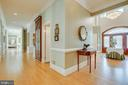Hallway with custom built ins. - 40843 ROBIN CIR, LEESBURG