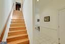 Back staircase - 40843 ROBIN CIR, LEESBURG