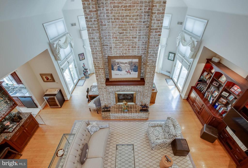View of family room from upstairs hallway - 40843 ROBIN CIR, LEESBURG