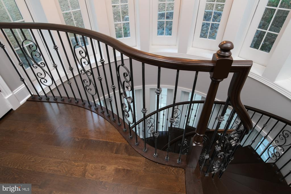 1 of the kind elegant staircase - 8746 BROOK RD, MCLEAN