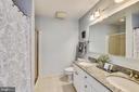 Master Bath has Double Sinks and Granite! - 3600 S GLEBE RD #222W, ARLINGTON