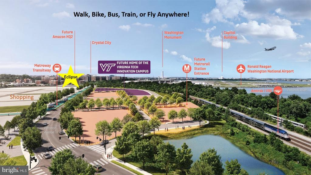 All Modes of  Transpo and access to Great Trails! - 3600 S GLEBE RD #222W, ARLINGTON