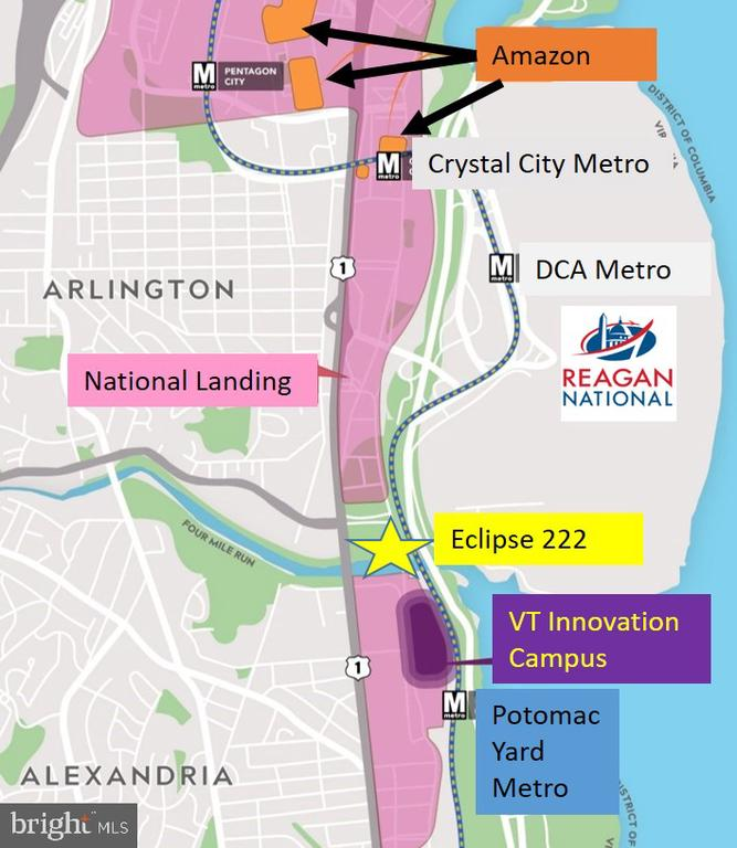 Another Graphic - Eclipse is in Center of it all! - 3600 S GLEBE RD #222W, ARLINGTON