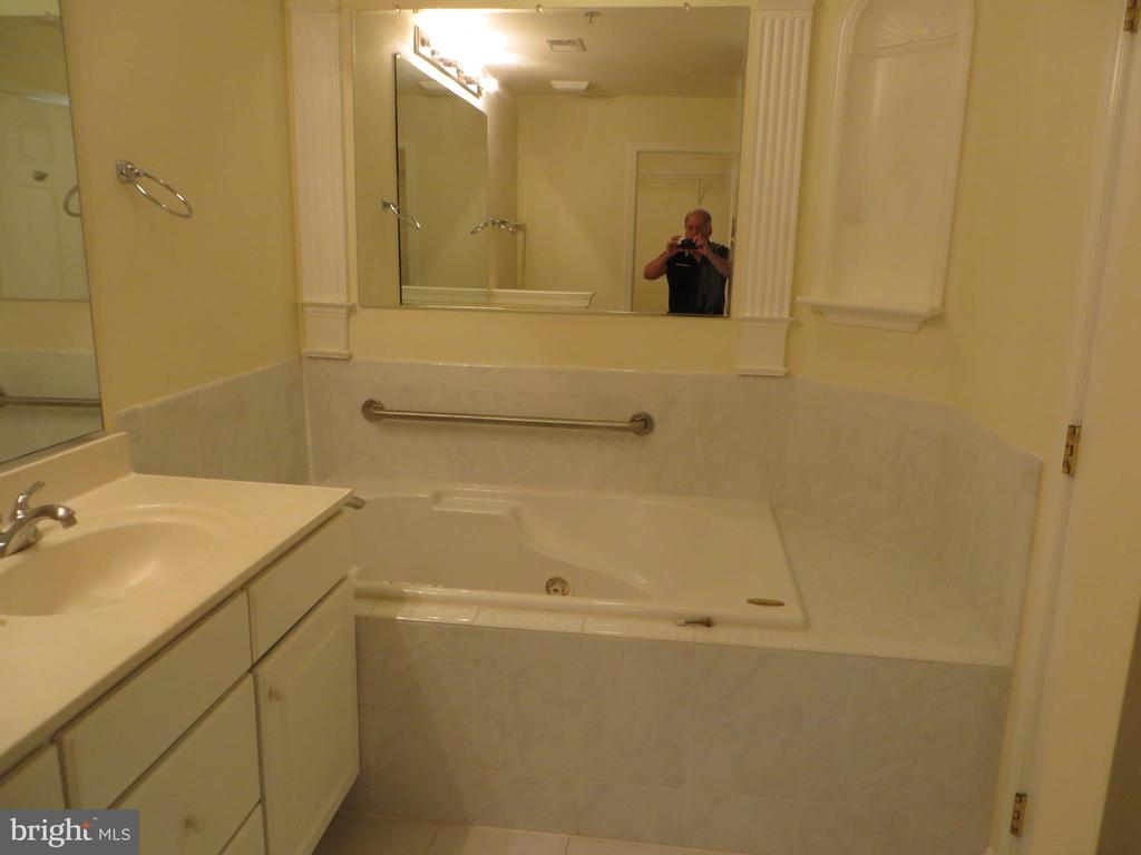 DELUXE MASTER BATHROOM WITH JETTED TUB - 336 CAMERON STATION BLVD, ALEXANDRIA