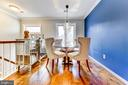 Bright and airy dining area - 1849 N UHLE ST #1, ARLINGTON