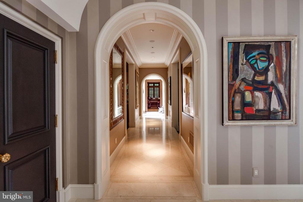 Beautiful archways lead to the art gallery - 733 N SPRING MILL RD, VILLANOVA