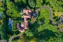 Sweeping driveway, manicured grounds - 733 N SPRING MILL RD, VILLANOVA