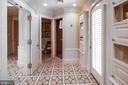 Stately His bath with mosaic floor, walk in shower - 733 N SPRING MILL RD, VILLANOVA