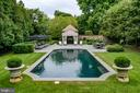 European style pool & Pool House with bathroom - 733 N SPRING MILL RD, VILLANOVA
