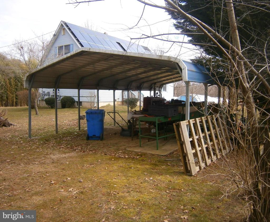 Carport for tractor and equipment - 179 BACK CREEK RD, SWEDESBORO