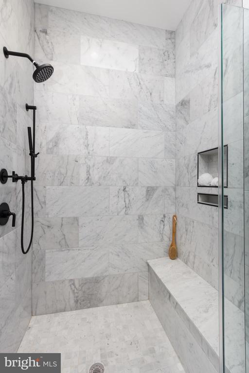 Owners' Bedroom marble shower - 1325 D ST SE, WASHINGTON