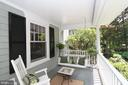 Fabulous front porch - 7311 BROOKVILLE RD, CHEVY CHASE