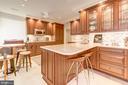 Kitchen - high end, paneled appliances, custom cab - 2101 CONNECTICUT AVE NW #66, WASHINGTON