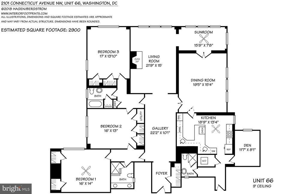 Floor plan - 2101 CONNECTICUT AVE NW #66, WASHINGTON