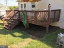 LARGE DECK OVERLOOKS BACK YARD - 11504 GORDON RD, FREDERICKSBURG