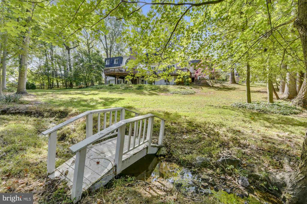Really big back yard - over 1 acre of green space. - 9520 LEEMAY ST, VIENNA