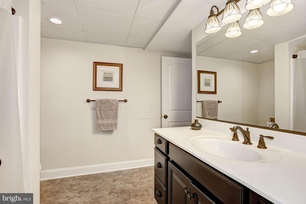 Large basement bath w/doors to bedroom & hall - 20772 GLEEDSVILLE RD GLEEDSVILLE RD, LEESBURG