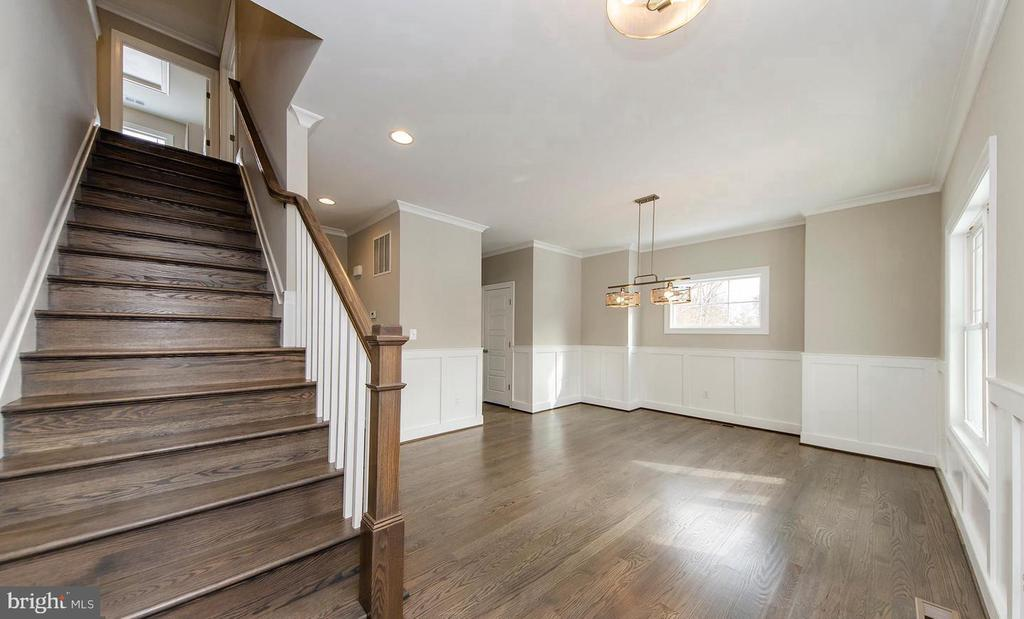 Entry Foyer into Dining Room - 7534 LISLE AVE, FALLS CHURCH