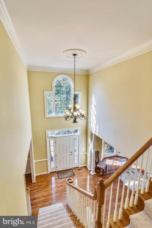 Looking down on Foyer & beautiful Palladium window - 39278 KARLINO CT, HAMILTON