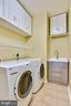 Laundry with HE washer & electric dryer - 39278 KARLINO CT, HAMILTON