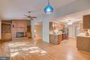 Family Room and Kitchen with hardwood floors - 103 BIRCHSIDE CIR, LOCUST GROVE