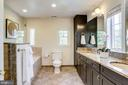 Master bath with dual vanities,  tub and shower - 307 KENTUCKY AVE, ALEXANDRIA