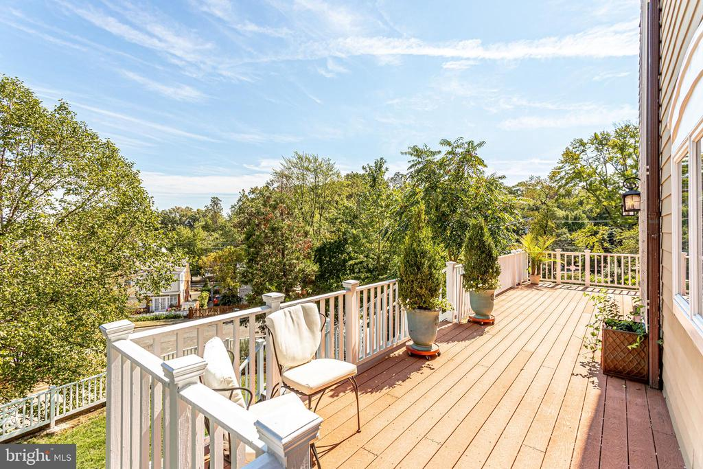Serene deck off living room w/ stairs to backyard - 307 KENTUCKY AVE, ALEXANDRIA