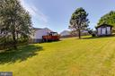 Large fenced backyard - 131 SUNHIGH DR, THURMONT