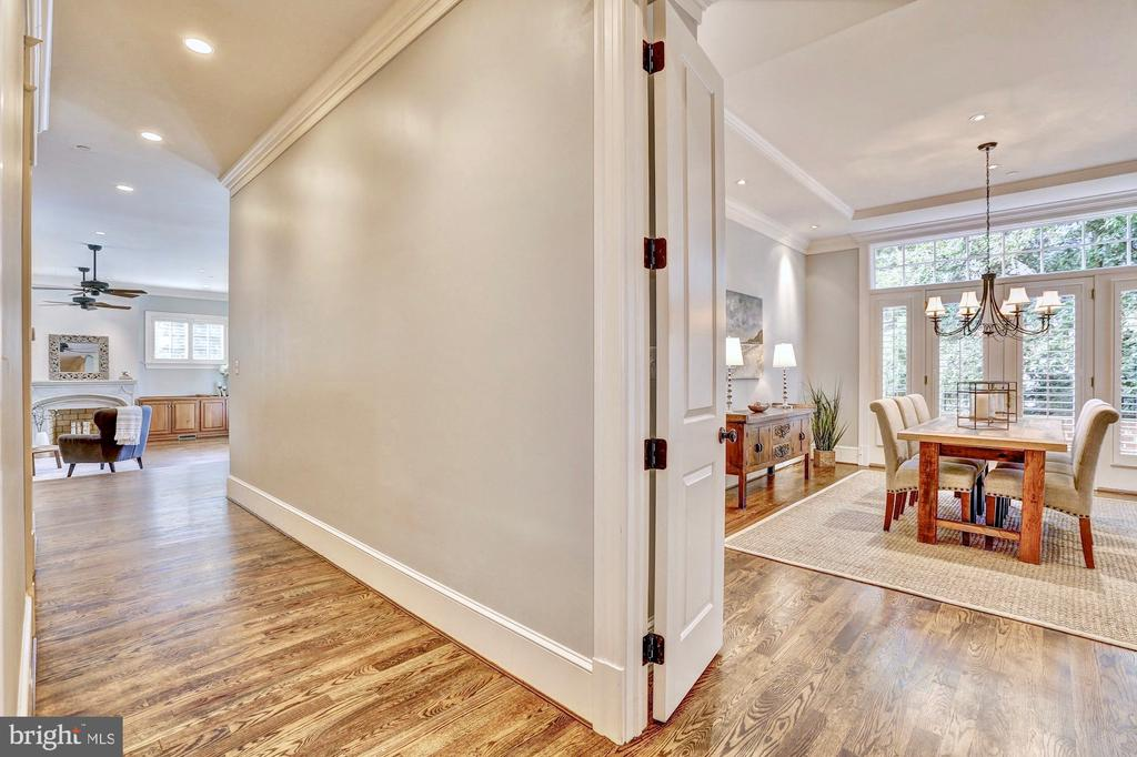 Hallway leads to family room. - 116 E MELROSE ST, CHEVY CHASE