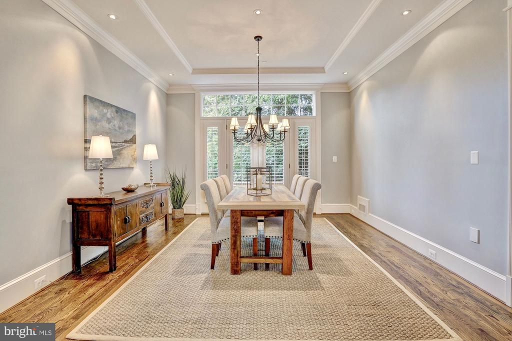 Dining room leads to private balcony. - 116 E MELROSE ST, CHEVY CHASE