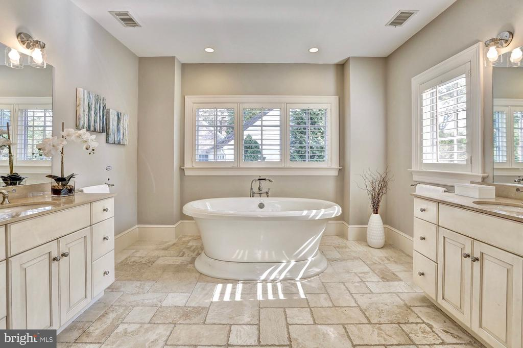 Master bath with separate vanities. - 116 E MELROSE ST, CHEVY CHASE