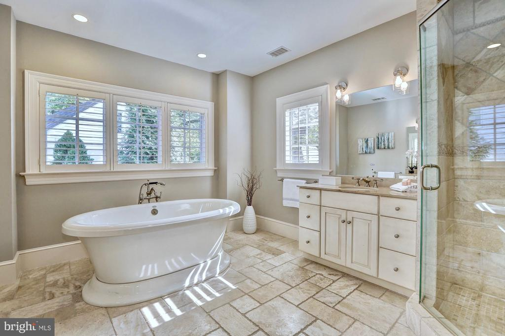 Spa-like master bath with freestanding soaking tub - 116 E MELROSE ST, CHEVY CHASE