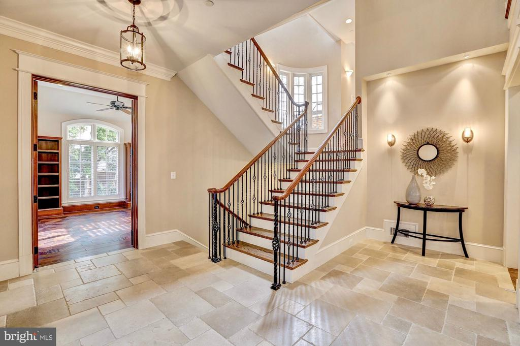 Dramatic dual-sided staircase. - 116 E MELROSE ST, CHEVY CHASE