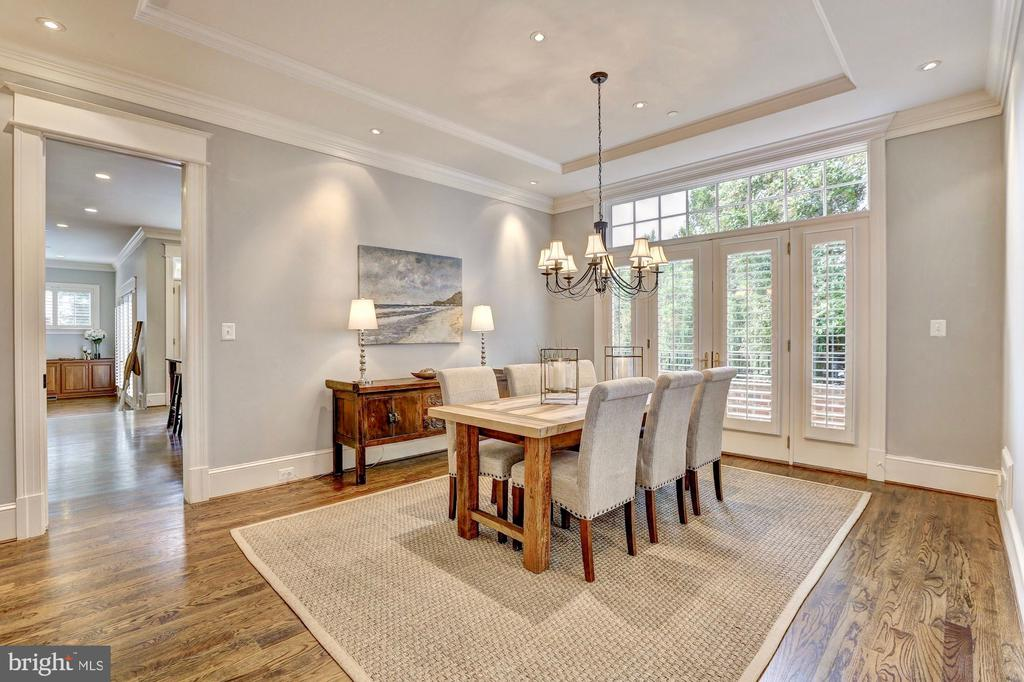 Dining room perfect for grand dinner parties. - 116 E MELROSE ST, CHEVY CHASE