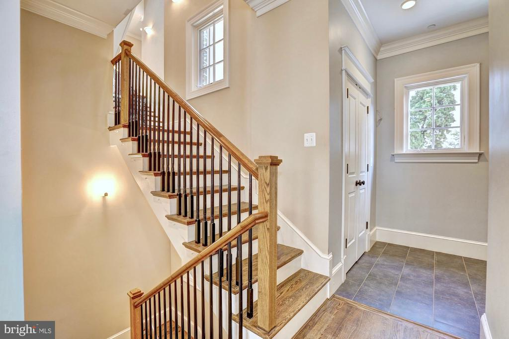 Dual staircase allows access from mudroom. - 116 E MELROSE ST, CHEVY CHASE