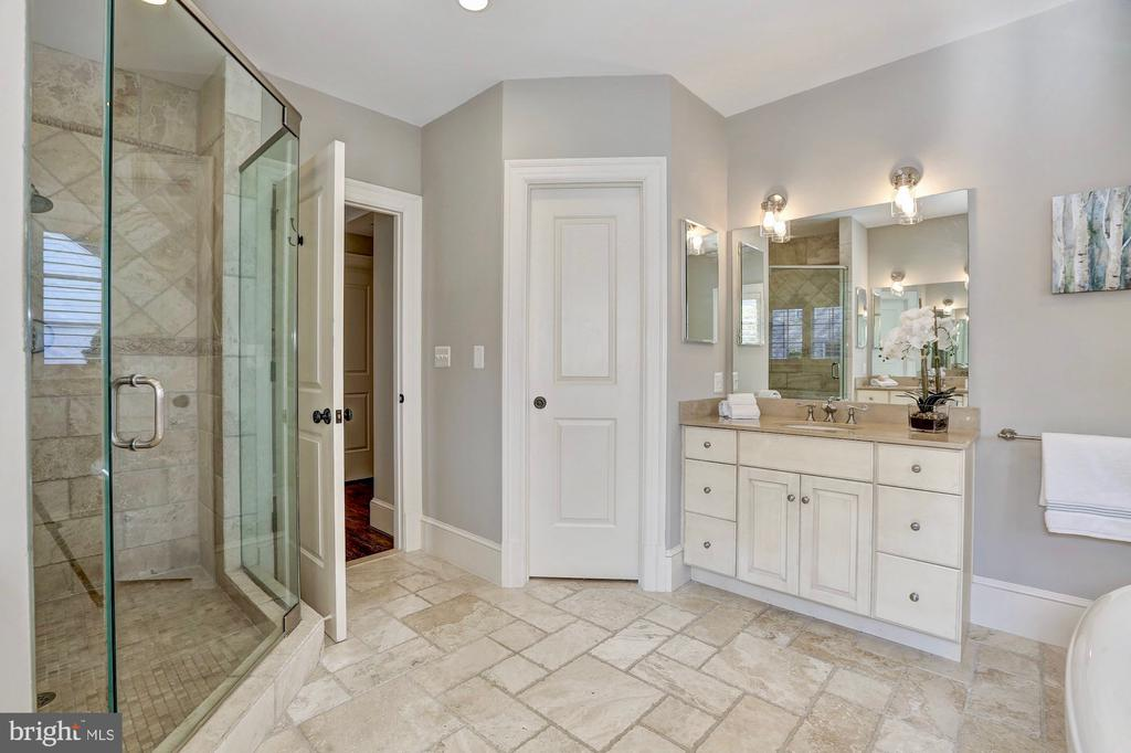 Master bath offers large shower and water closet. - 116 E MELROSE ST, CHEVY CHASE