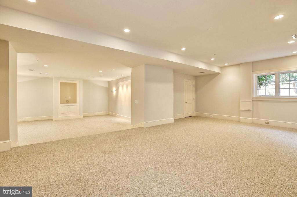 Lower level recreation room. - 116 E MELROSE ST, CHEVY CHASE