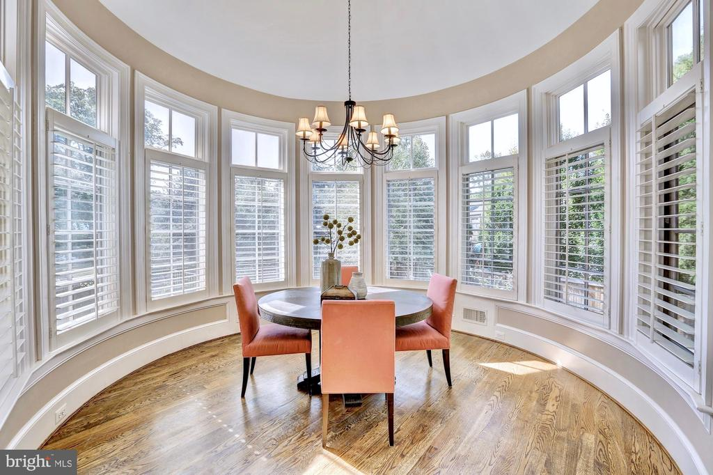 Breakfast room with vaulted ceiling. - 116 E MELROSE ST, CHEVY CHASE