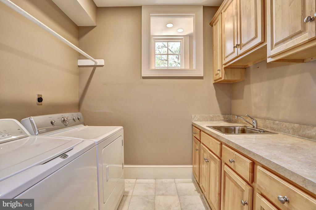 Bedroom-level laundry room. - 116 E MELROSE ST, CHEVY CHASE