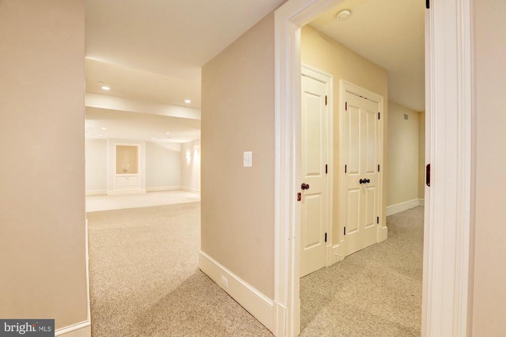 Lower level bedroom #6 with ensuite. - 116 E MELROSE ST, CHEVY CHASE