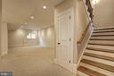 Lower level second staircase leads to mudroom. - 116 E MELROSE ST, CHEVY CHASE