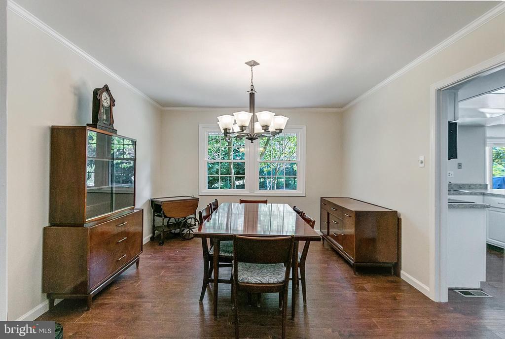 Formal dining room - 2808 VILLAGE LN, SILVER SPRING